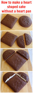 Steps how to make a heart shaped cake without a cake pan