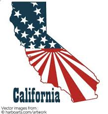 California State Map Bumper Sticker Design With Sunray Stars And Stripes Inside Shape Of For Printing A Few Dollars You Can Download