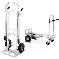 Costway 2in1 Aluminum Hand Truck Convertible Folding Dolly Platform ...