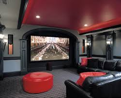 large wall sconce home theater traditional with barrel ceiling