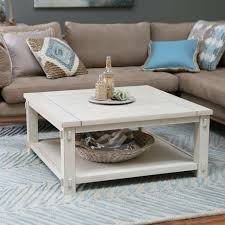 100 Living Room Table Modern Square Coffee Large Coastal Furniture Off White Cream Cocktail