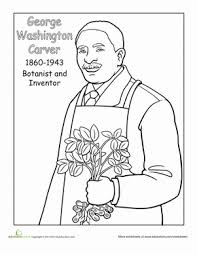 Second Grade Holidays Seasons Worksheets George Washington Carver Coloring Page