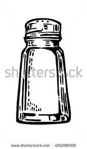 Salt Shaker Vintage Vector Engraving Illustration For Label Poster Web