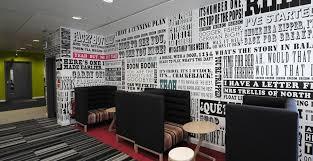 tapisserie bureau papier peint personnalisé exhibit