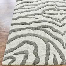Modern Zebra Print Tufted Rug 2 Colors Sarah ST Pinterest