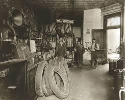 Vintage Ford Auto Repair Shop Garage Interior Old Time Part Store Marquette MI Circa 1911
