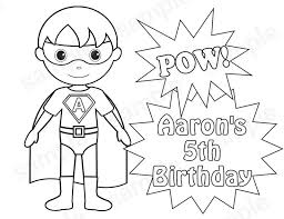 Kid Superhero Coloring Pages