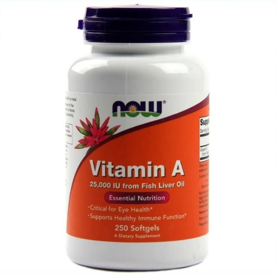 Now Foods Vitamin A 25000 Iu From Fish Liver Oil - 250 Softgels
