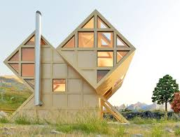 bureau eco gorgeous valley house is a geometric timber cabin inspired by the