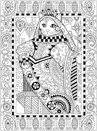 Creative Cats Abstract Doodle Zentangle Paisley Coloring Pages Colouring Adult Detailed Advanced Printable Kleuren Voor Volwassenen