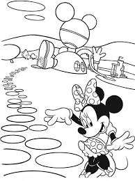 Minnie By Her House Coloring Page