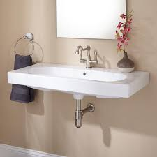 Trough Sink With Two Faucets by Bathroom Sink Awesome Makeover Your Trough Bathroom Sink With