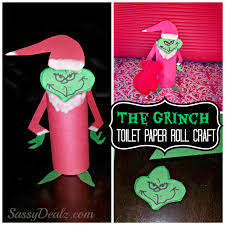 Grinch Christmas Toilet Paper Roll Craft