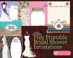 I Free Printable Bridal Shower Invitations