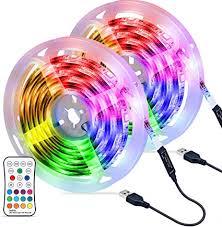 6m led streifen omeril usb led wasserdicht led band rgbw mit fernbedienung led leiste lichtband mit 16 farbwechsel 4 modi verstellbare