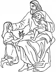 Jesus Loves Me The Children And Love Coloring Page