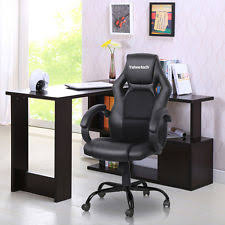 realspace fosner high back bonded leather chair black ebay