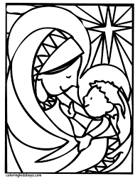Christmas Coloring Pictures Mary And Jesus At YesColoring