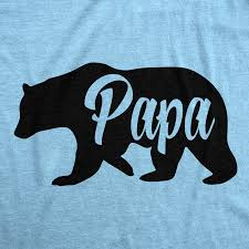 Mens Papa Bear Funny Shirts For Dads Gift