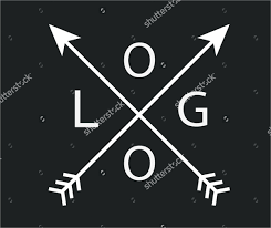 Vintage Hipster Arrow Logo