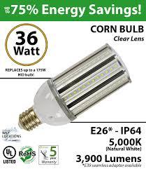 175 watt hid hps led equivalent 36w corn light bulb 5000k