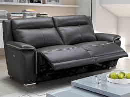 canapé 3 places relax electrique canapé et fauteuil relax électrique en cuir 2 coloris paosa