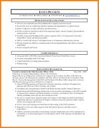 Sample Resume Of Executive Assistant To Ceo Awesome