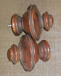 Allen And Roth Wood Curtain Rods by Allen Roth 2 Pack Walnut Wood Curtain Rod Finials Nursery Ideas