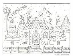 Gingerbread House Winter Scene