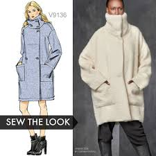 Sew The Look Vogue Patterns V9136 Unlined Coat Sewing Pattern
