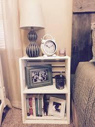 22 nightstand ideas for your bedroom crate nightstand