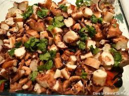cuisiner le poulpe recettes de poulpes et salade de poulpe
