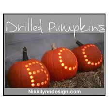 Pumpkin Carving With Drill by Drilling Pumpkins