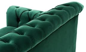 casa padrino luxus chesterfield wohnzimmer sofa grün braun gold 230 x 90 x h 81 5 cm luxus qualität