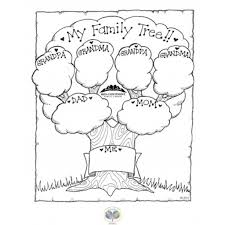 Family Tree Coloring Page 1 Throughout