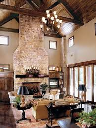 40 Rustic Country Cabin With A Stone Fireplace For Romantic Get Away 6