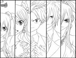 Fairy Tail Coloring Pages Anime Yw8
