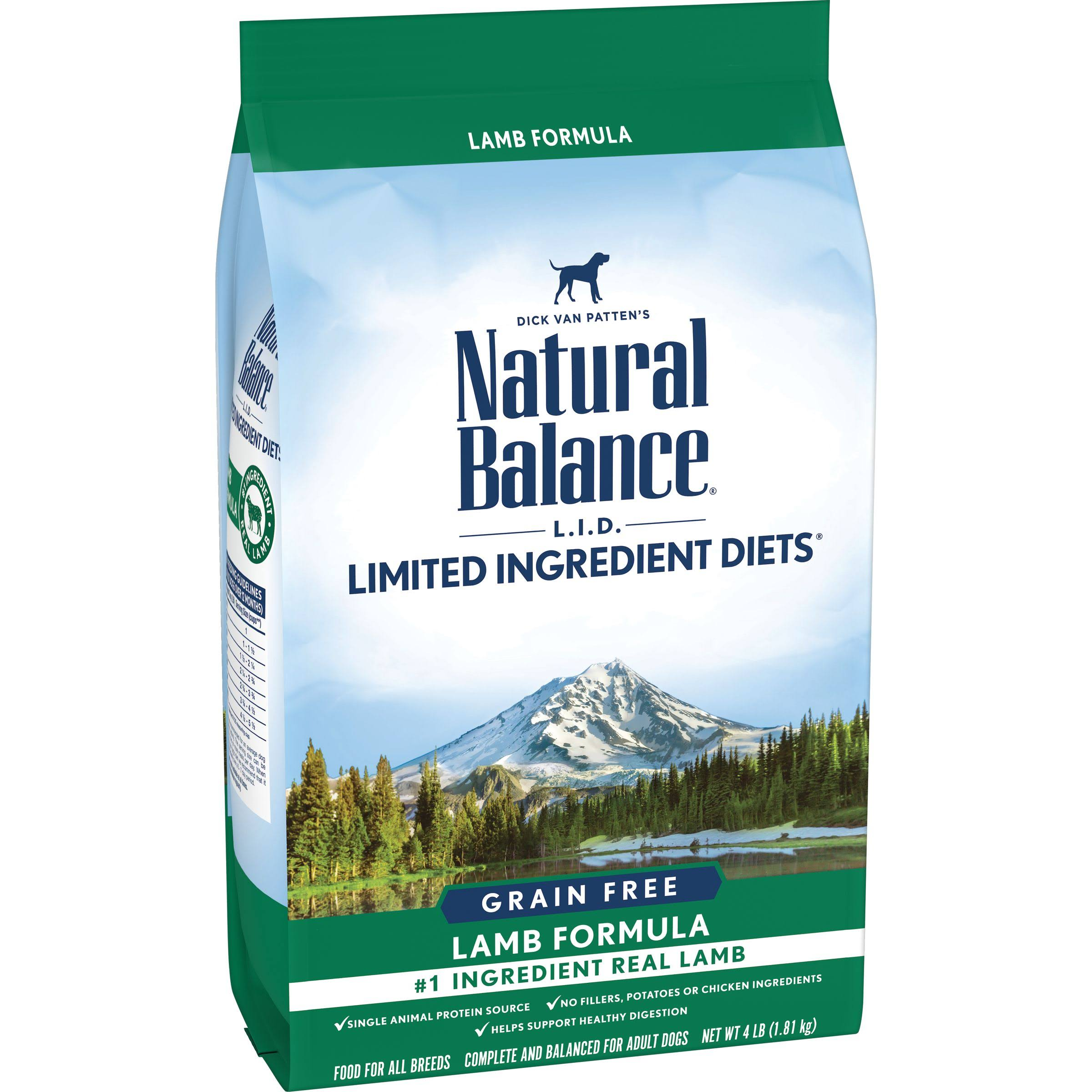 Natural Balance LID High Protein Dog Food - Lamb Formula, 4lbs