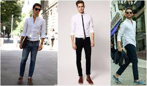White Shirts Men Trend Compressed