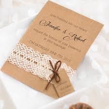 Vintage Lace Rustic Wedding Invitation With Tags EWLS048