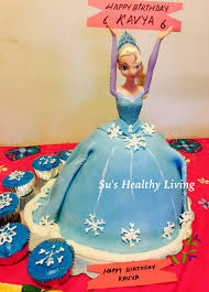 Su s Healthy Living Frozen Elsa Cake and Snowflake Cupcakes