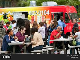 Customers Sit Eat Image & Photo (Free Trial) | Bigstock Shark Tank Food Truck Cousins Maine Lobster Atlanta Scoopotp Sign Promotes Presence Of Trucks At Festival Editorial Fattys Of Roaming Hunger Old Fourth Ward Fall September 22 2018 The Park And Market Yum Foodtruck Good Eats Food Truck Park Pinterest Mw People Walk Among Springtime Stand In Line During Truckshere At Last Jules Rules National Day