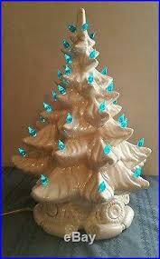 Vintage Atlantic Mold Ceramic Christmas Tree by Vintage Large 16 Atlantic Mold Pearl White Ceramic Christmas Tree
