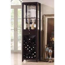 Austin 24 Bottle Dark Brown Bar Cabinet