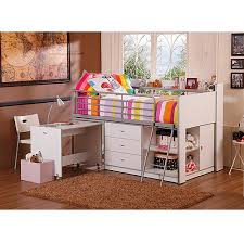 Walmart Computer Desk With Side Storage by Savannah Storage Loft Bed With Desk White Walmart Com