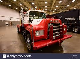 An Old Classic Mack Truck Is Displayed At The 2018 Great American ...