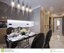 100 Interior Design Marble Flooring Modern Classic Kitchen Stock Illustration