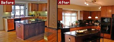 Kitchen Remodel Photos Before And After Glamorous Picture Living Room With