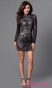 short sequin high neck homecoming dress promgirl