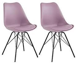 homexperts stuhl set ursel kunstleder bezug in flieder rosa gestell metall schwarz küchenstuhl im 2er set esszimmerstuhl küchenstuhl